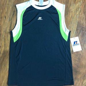 Russell Sleeveless Muscle Shirt Size 10/12 NWT